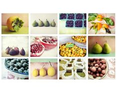 Kitchen Art, Food Photography, 12 Photographs, cooking, collection, foodie, fruit, vegetables, spices, tea, coffee 5x7 prints