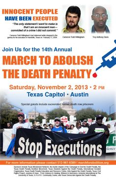 14th Annual March to Abolish the Death Penalty, November 2, 2013 in Austin, Texas at the Capitol
