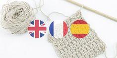 Diccionario Punto Ingles Frances Español. Glosario de terminos de punto y crochet en ingles y frances traducidos a español