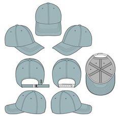Baseball cap Denim 2018 vector illustration flat sketches template