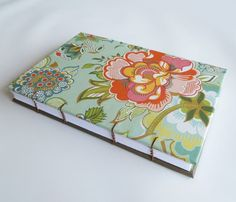 Coptic Stitched Journal, Notebook with Bright Spring Flowers. $25.00, via Etsy.