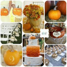 I want to do my table numbers in pumpkins like they do here