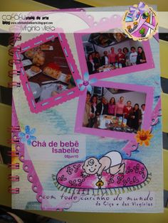 ÁLBUM DE ASSINATURA BEBÊ MENINA www.cafofuateliedearte.blogspot.com