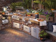 Outside Kitchen Ideas - Build Outdoor Kitchen Outdoor Kitchen Plans Modular Outdoor Kitchens step 2 outdoor kitchen. outdoor kitchen with firepit. outdoor kitchen next to house. Modern Outdoor Kitchen, Backyard Kitchen, Outdoor Living, Outdoor Kitchens, Kitchen Grill, Kitchen Ware, Backyard Cookout, Outdoor Spaces, Fiesta Kitchen