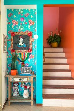 Frida Khalo inspiration (plus the stairs!! <3)