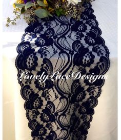 NAVY BLUE Lace/Table Runner / 3ft-10 ft lang von LovelyLaceDesigns