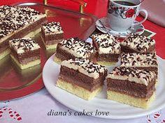 diana's cakes love: Prăjitură cu două blaturi si două creme Tiramisu, Cakes, Ethnic Recipes, Cake Makers, Kuchen, Cake, Pastries, Tiramisu Cake, Cookies