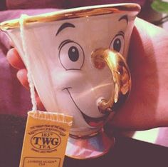 The Authentic Disney Parks Merchandise Blog: Beauty and the Beast Mrs. Potts Tea Set, Would be cool if chip had an actual chip :)
