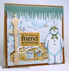 The Quiet Moments: The Snowman colored with @SpectrumNoir featuring #crafterscompanion stamps and dies