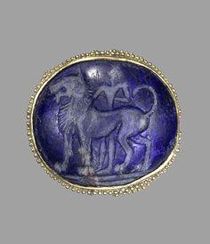 A granulated gold gem from Knossos -  Crete, 1600 / 1390 B.C.