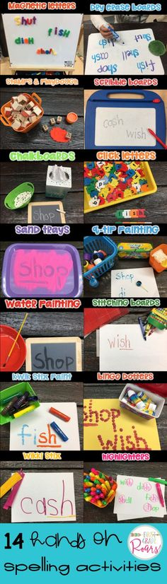 14 fun and easy ways to practice your spelling words during daily literacy rotation and word work. Hands-on practice always brings your students engagement.