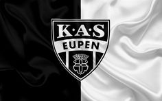 Download wallpapers Eupen FC, 4k, Belgian Football Club, logo, emblem, Jupiler League, Belgium Football Championships, Eipen, Belgium, football, silk flag