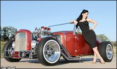 hot rod pin ups | Video: Photographer's Work Maintains Old School Pin Up Style