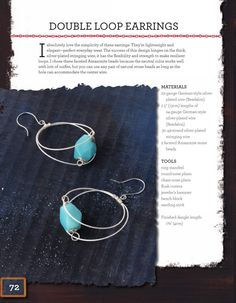 Double Loop Earring project from Wired Beautiful - Heidi Boyd