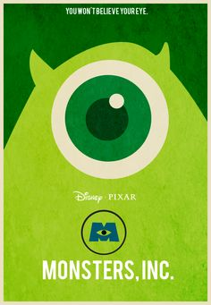 Monster's Inc Poster Mike Wazowski by Yeti-Labs on DeviantArt