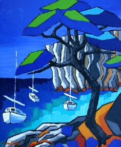 Deborah Lawrenson: The Calanques: jazzy blue - Olivier Boissinot