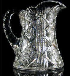American Brilliant Cut Glass  Maple City Glass by GrandIndulgence, $245.00