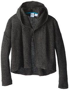 Roxy Big Girls' Sweet Rainbow Open Cardigan, Discovery True Black Sweater, Large $ 54.00