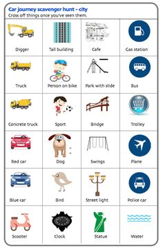 Traveling with kids activity sheet - city