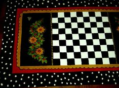 Floor Cloth, Floor Rugs, Painted Rug, Hand Painted, Lap Quilts, Floor Design, Paint Finishes, French Country, Color Pop