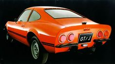 Opel GT from 1969. Amazing 60's car design for a very low price tag when you compare the looks to Corvette, Shelby and Porsche from the same era...