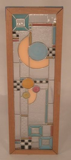 Frank Lloyd Wright stained glass door