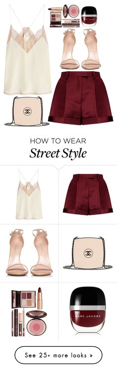 """""""street style"""" by ecem1 on Polyvore featuring Zadig & Voltaire, Chanel, Valentino, Stuart Weitzman, Charlotte Tilbury and Marc Jacobs"""