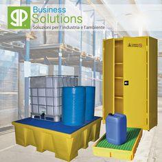 Soluzioni e prodotti per il contenimento di sostanze pericolose, infiammabili ed inquinanti e lo stoccaggio in sicurezza di fusti e cisternette IBC