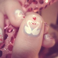 Love is in the flair! Hearts are on for Valentine's Day | Swans manicure, nails
