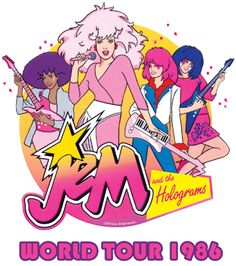 @Sara Morgan, @Carrie Hall, Jaime and I would play with the Jem and the Holograms dolls, make up dance routines to the tapes and watch the cartoon.  Looking back, The Misfits really WERE better
