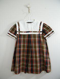 Vintage 1960's little girl's school dress.