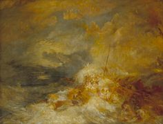 William Turner - Disaster at Sea Most certainly at Tate britain, I've so many of his painting, I have to say, he deserves a place here. Joseph Mallord William Turner, Watercolor Landscape Paintings, Landscape Art, Seascape Paintings, Art Romantique, Turner Watercolors, Turner Painting, Google Art Project, Tate Britain