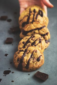 The Ultimate Gluten Free Choc Chip Cookies | Madeleine Shaw. No weird ingredients.