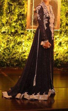 Wedding Gown Dresses in Pakistan in Black