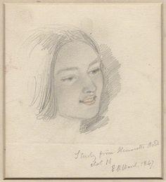 Henrietta Ward con 16 años, de Edward Matthew Ward (1847)