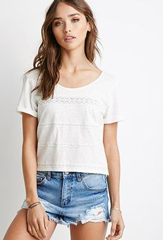 Crocheted Cutout-Back Top | Forever 21 - 2000132347