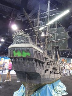 Black Pearl pirate galleon miniature