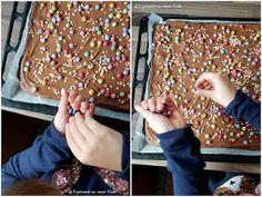 Bunter Schokokuchen   Rezept   Backen   Kuchen   Kindergeburtstag   Blechkuchen Chocolate Cake Recipe Easy, Cake Chocolate, Birthday Sheet Cakes, Easy Cake Recipes, No Bake Cake, Snacks, Baking, Desserts, Color