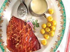 Gerookte ham met soet mosterdsous South African Recipes, Kos, Meat, Blackbird
