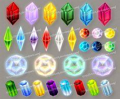 Gems (downloadable stock) - 5 by Rittik-Designs on DeviantArt