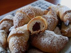 Mini croissants with jam ... fragile, delicate, heaven in your mouth...