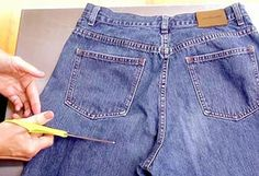 Recycling Old Jeans Into An Apron