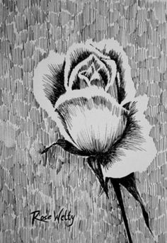 Drawing ideas - rose This is a very uniques techniques that i'd love to try!