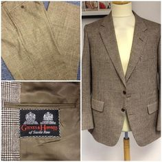 Vintage menswear donated, including this fab original Gieves and Hawkes suit. Made from 100% wool this timeless suit will hold quality and British heritage forever in your wardrobe.