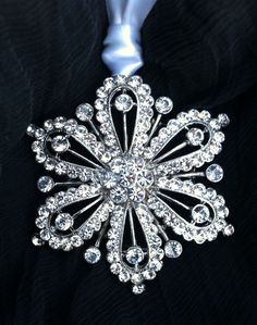 Spring Street Swarovski Crystal White Snowflake Ornament