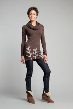 Tops | Winter Berry Cowl Neck Tunic | Synergy Organic Clothing