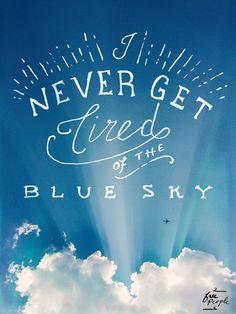 Monday Quote: Blue Sky (via Bloglovin.com )