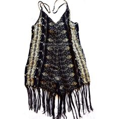 6195406d535 FREE PEOPLE Romper Print Fringe Festival Jumpsuit Size Large. New with  tags.  200 Retail