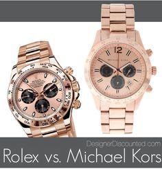 Michael Kors Watch vs. Rolex