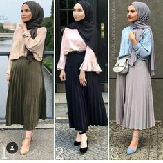 Fashion Hijab Style Ootd Maxi Skirts Ideas For 2019 Modest Fashion Hijab, Hijab Style Dress, Modern Hijab Fashion, Street Hijab Fashion, Casual Hijab Outfit, Hijab Fashion Inspiration, Muslim Fashion, Hijab Chic, Modest Dresses
